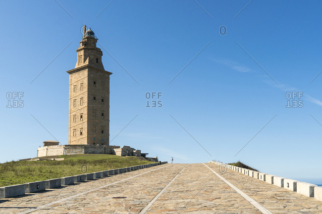 Spain, north coast, Galicia, A Coruna, Hercules tower, landmark, Unesco World Heritage