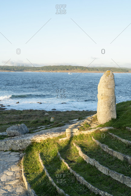 Spain, north coast, Galicia, Costa da Morte, Muxia, place of pilgrimage, Punta da Barca