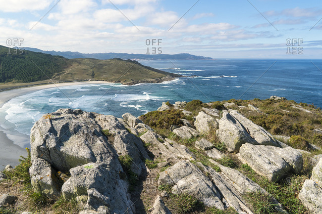 Spain, north coast, Galicia, Costa da Morte, rocky coast, Praia de Soesto