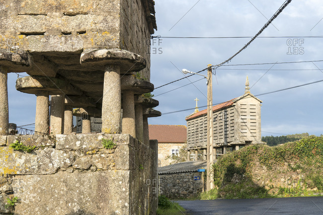 Spain, north coast, Galicia, Jacobsweg, Horreo, traditional storage building