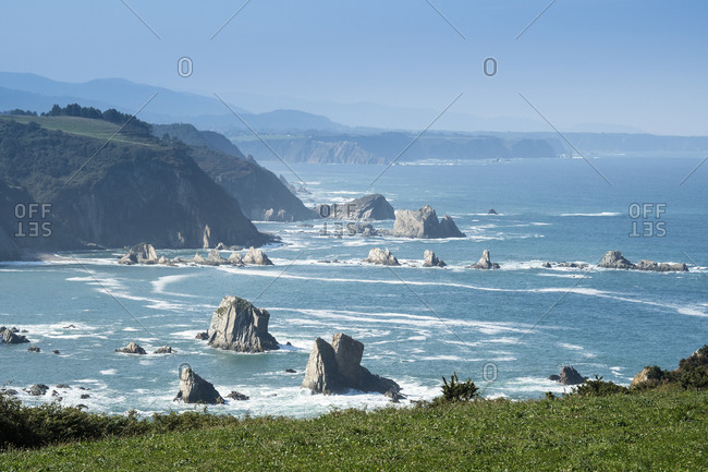 Spain, north coast, Asturias, coastline, distant view, Jacobsweg