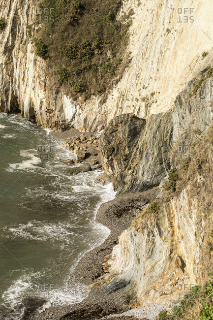 Spain, north coast, Asturias, coastline, rocks, Playa del Silencio