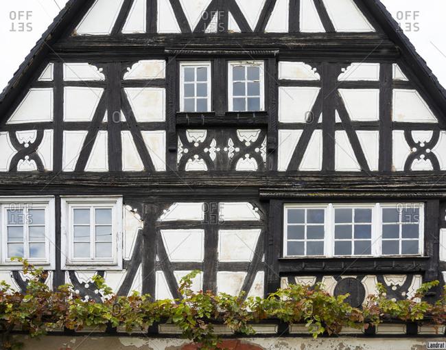 Germany, Rhineland-Palatinate, Schweigen-Rechtenbach, half-timbered house