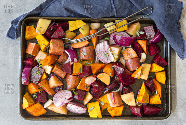Tray of Vegetables to Roast