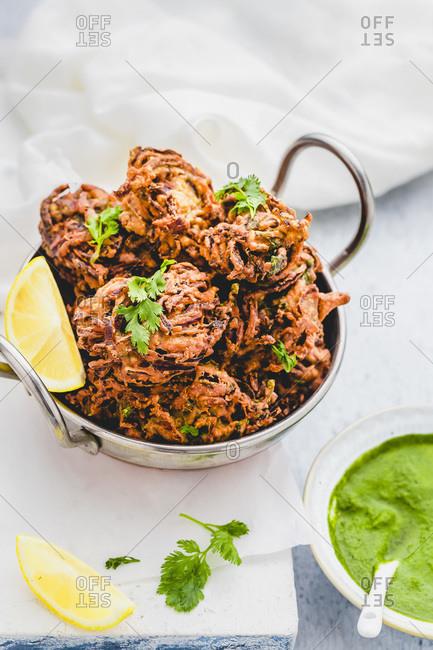 Onion Bhaji  Indian Onion Fritters