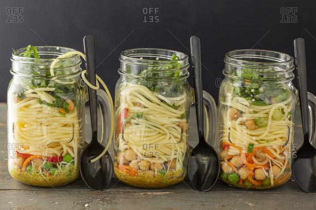 Prepared Noodle Lunch Jars studio shot
