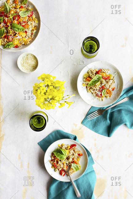 Italian Pasta Salad studio shot
