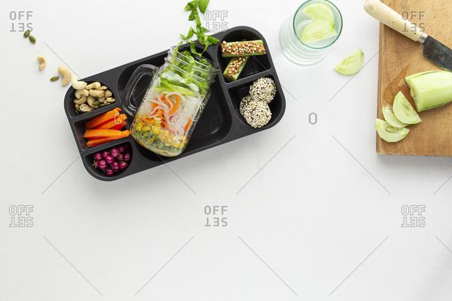 Healthy Lunch overhead studio shot