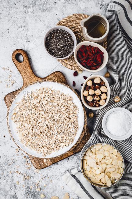 Healthy Granola protein ball studio shot