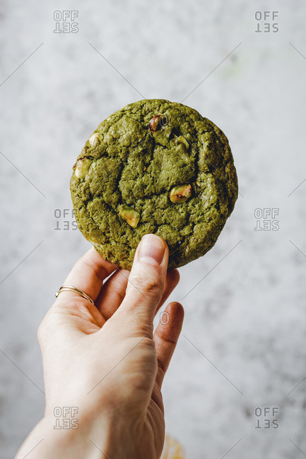 Delicious Matcha Cookies studio shot