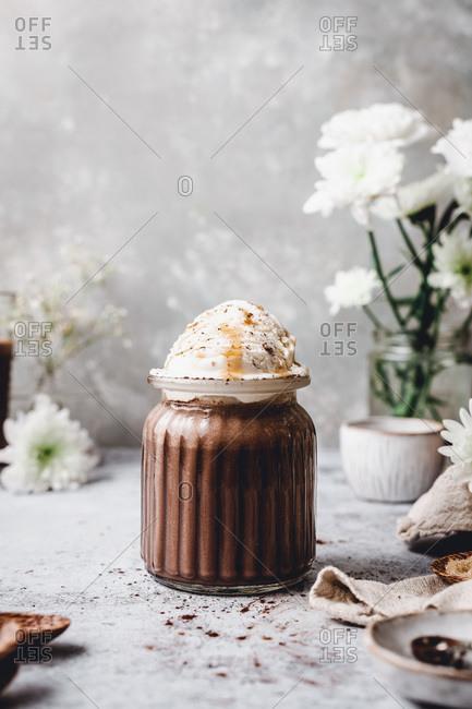 Delicious Chocolate Milkshake studio shot
