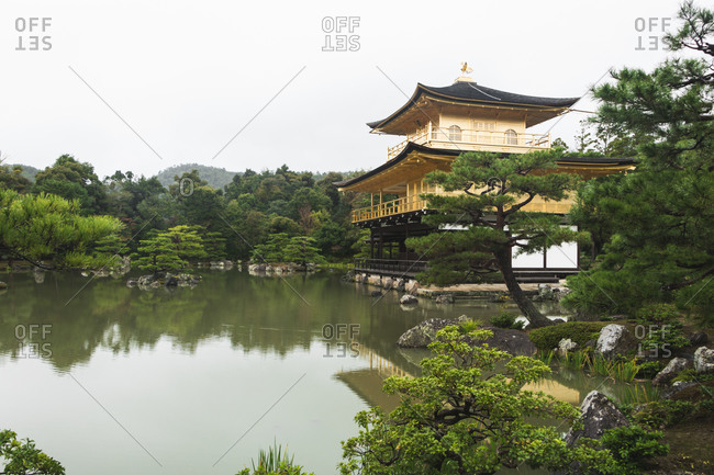 Kinkaku-ji or golden pavilion temple in Kyoto, Japan