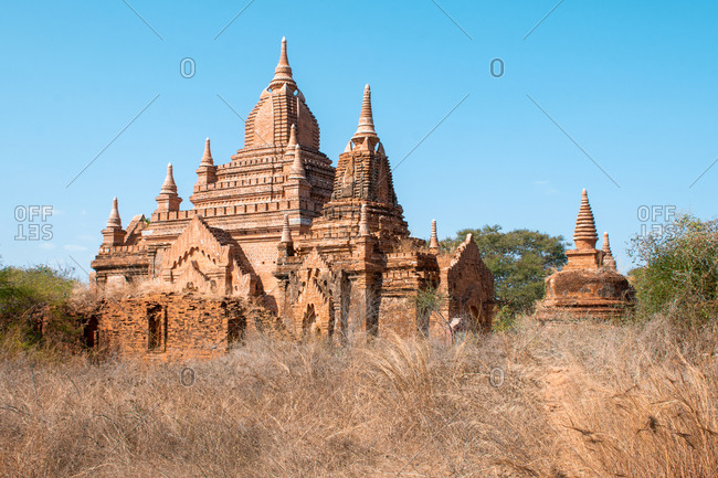 The land of thousands temples in Old Bagan, Mandalay Region, Myanmar (Burma)