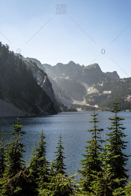 An alpine lake in rural Washington