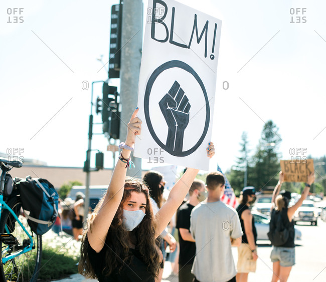 Peaceful Demonstrations in Rural Grass Valley, California Protest