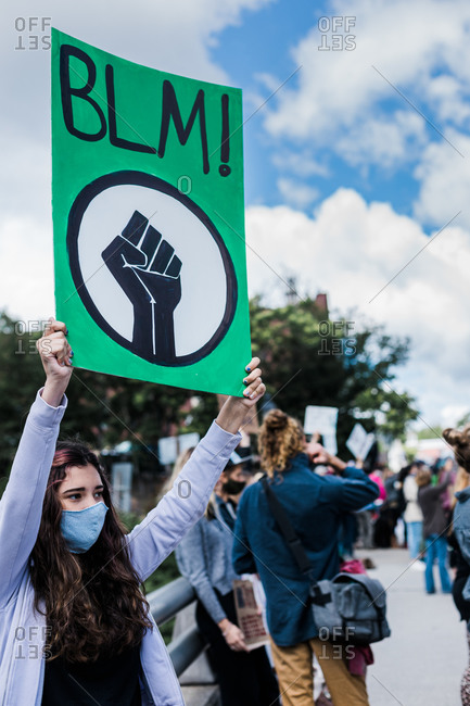 Peaceful Demonstration in Rural Small Town, California BLM Protest