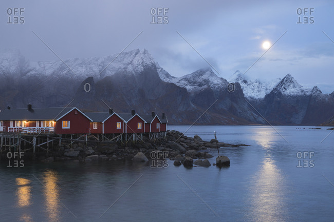Surroundings of the typical Norwegian village of Hamnoy