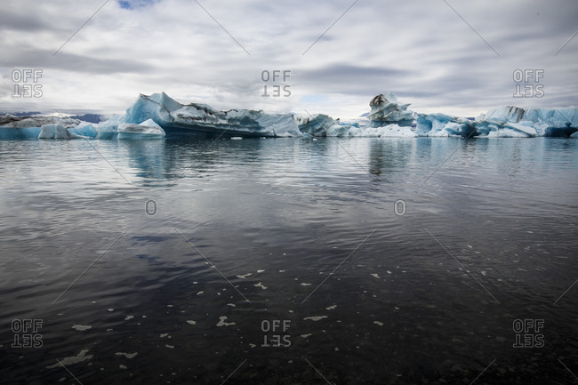 Icebergs at Jokulsarlon Glacier Lagoon in southern Iceland.