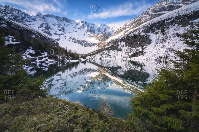 Aviolo lake in Adamello park, Brescia province, Lombardy Italy, Europe