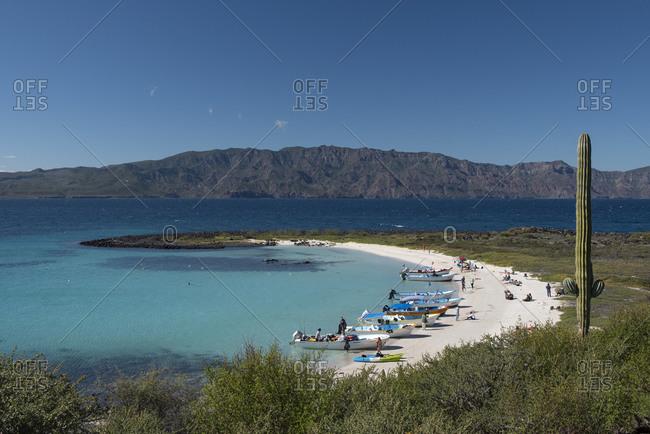 Loreto, B.C.S., Mexico - January 2, 2020: A small beach in Coronado Island, Loreto, Baja California.