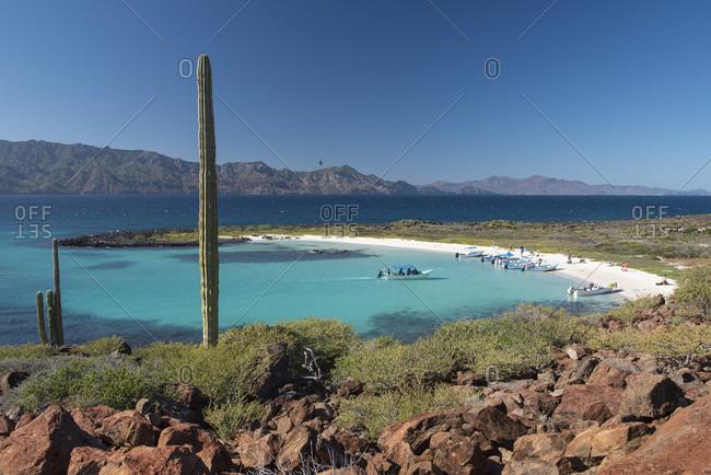 A small beach in Coronado Island, Loreto, Baja California.