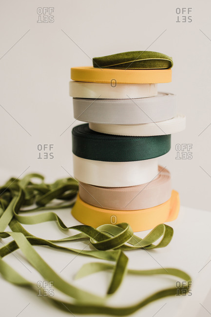 multi-colored ribbons for sewing and Floristics