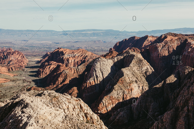 view from the Snow Canyon State Park overlook trail in St. George Utah
