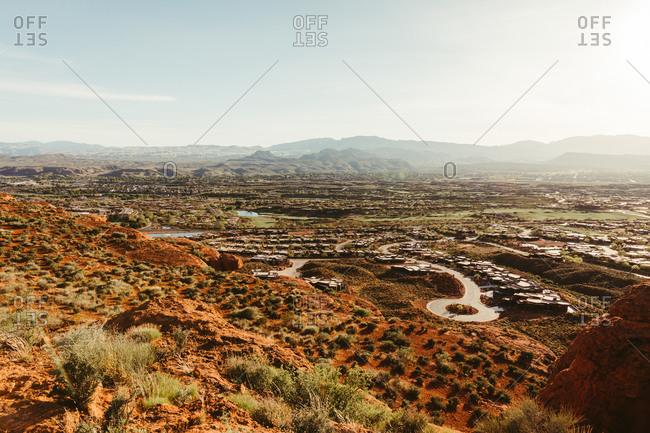 Desert landscape surrounding the suburbs of St. George Utah