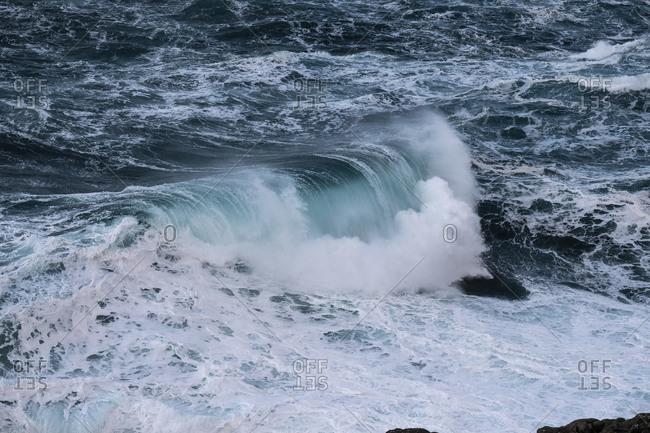 Rough sea and big waves, Suduroy, Faroe Islands