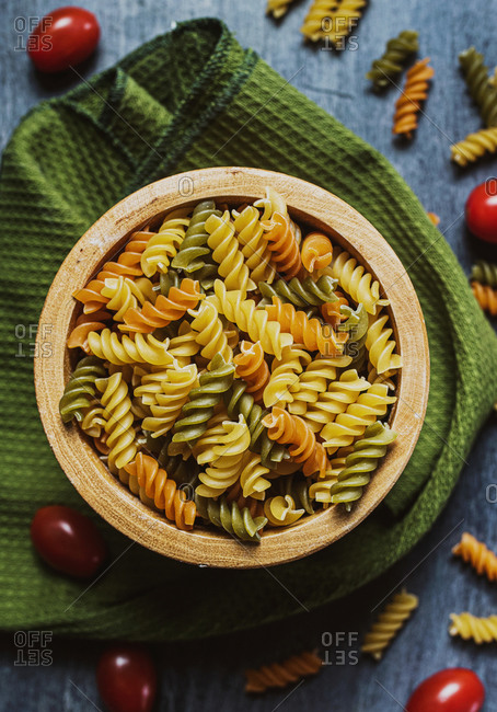 homemade pasta and tomatoes food photography