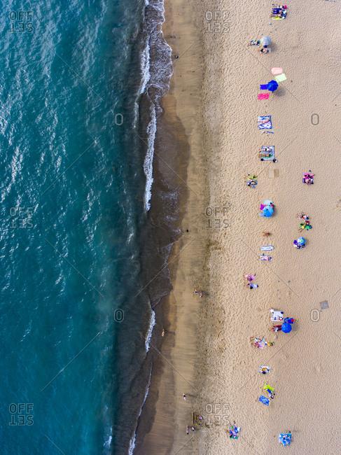 Beach from a bird's eye view