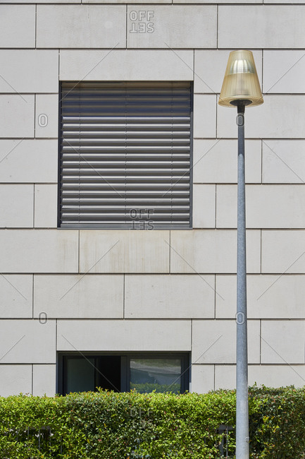 Modern street light in the Lapa neighborhood, Lisbon, Portugal
