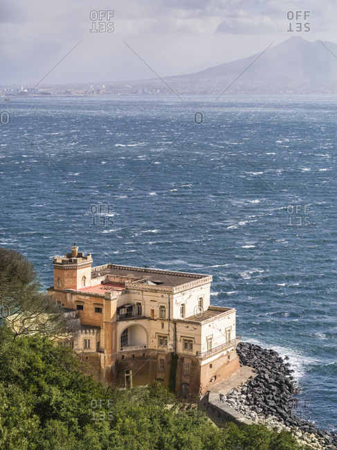Dilapidated palazzo in the Bay of Naples