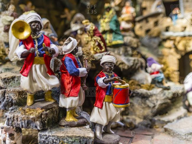 Handicrafts at the crib market in Naples