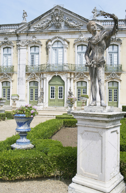 June 23, 2018: The Queluz Palace, once the Summer residence of the Braganza Kings, Queluz, near Lisbon, Portugal, Europe