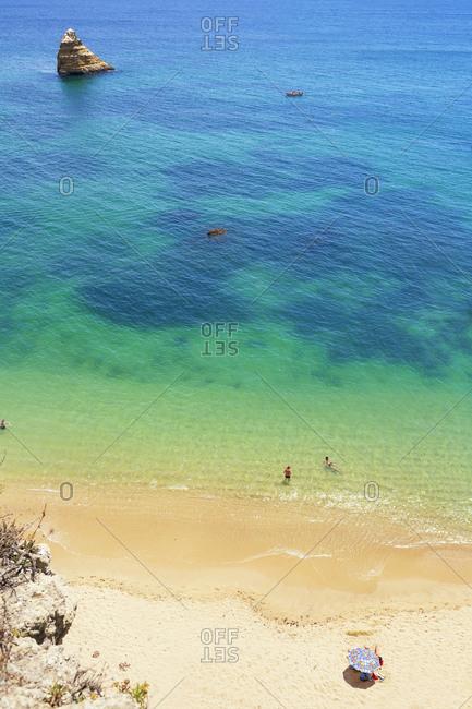 Praia Dona Ana, Lagos, Western Algarve, Algarve, Portugal,