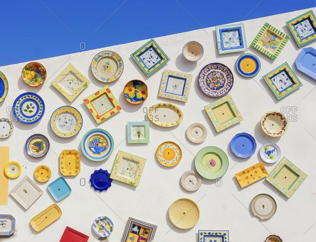 June 7, 2019: Traditional Portuguese pottery, Sagres, Algarve, Portugal,