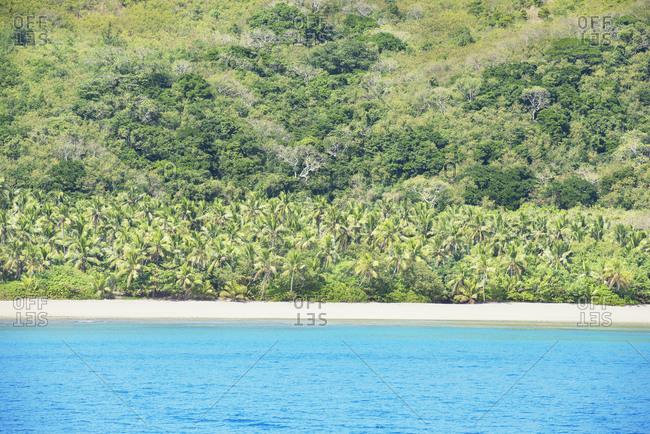 Tropical beach, Waya island, Yasawa island group, Fiji, South Pacific islands, Pacific