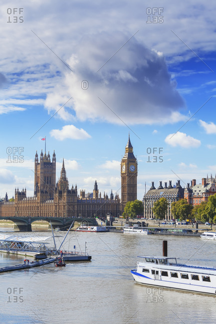 September 25, 2019: Big Ben and Houses of Parliament, London, England, UK