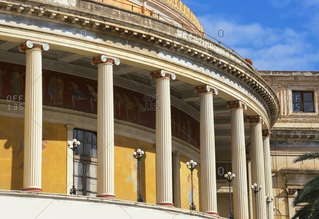 December 12, 2019: Politeama Theater, Palermo, Sicily, Italy, Europe