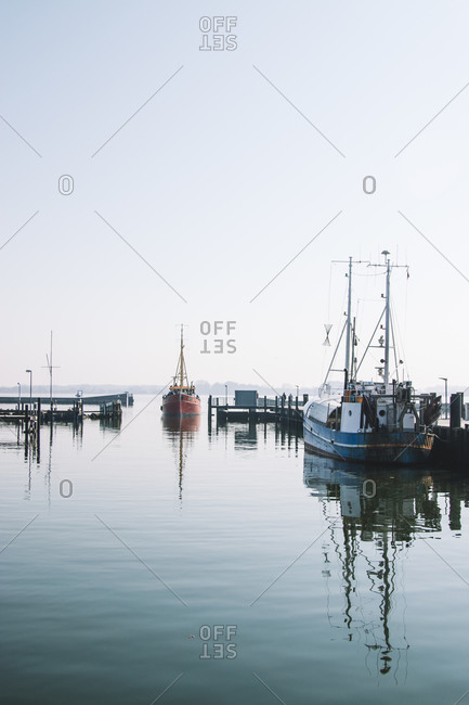 April 7, 2019: Harbor in Maasholm Bad, Schleswig Holstein.