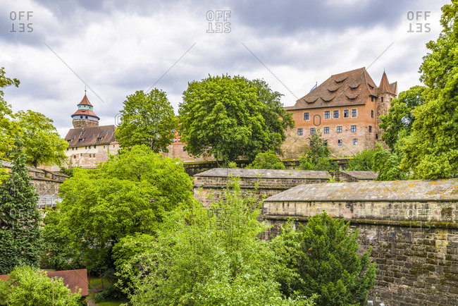 Medieval Imperial Castle of the Hohenzollerns in Nuremberg, Reichsburg and Imperial Residence, on the Mount of Olives