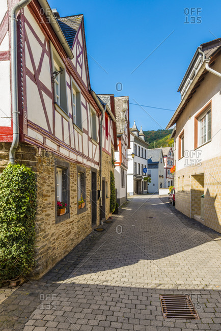 September 25, 2018: Monreal in the Eifel, the most beautiful village in Rhineland-Palatinate, Germany