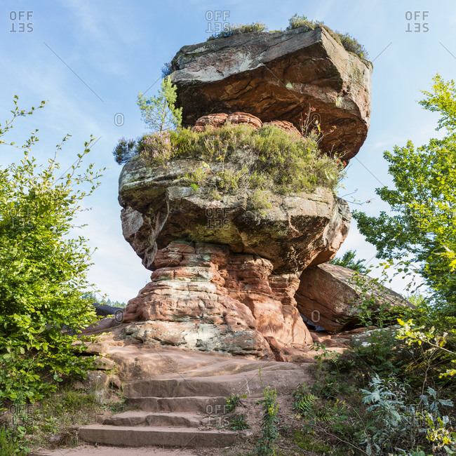 Devil's table near Hinterweidenthal in Wasgau, Palatinate highlands