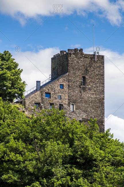 Liebenstein Castle seen from Sterrenberg Castle, Middle Rhine