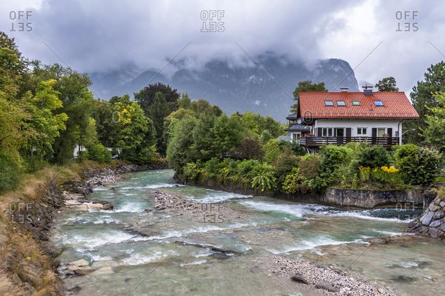 Partnach in Garmisch-Partenkirchen in bad weather