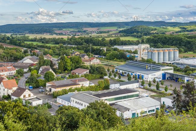 September 18, 2015: Industrial area of Monzingen, Middle Nahe, Bad Sobernheim