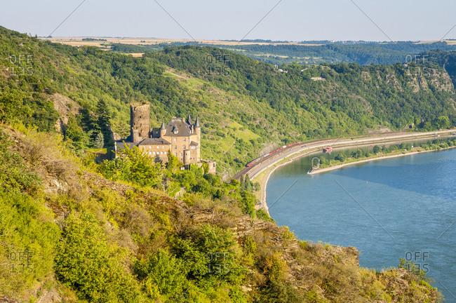 Burg Katz in the Loreley Valley, Middle Rhine