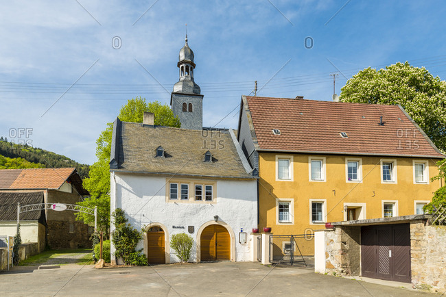 April 27, 2018: Museum and bakery in Simmertal near Kirn, in the near country in Germany