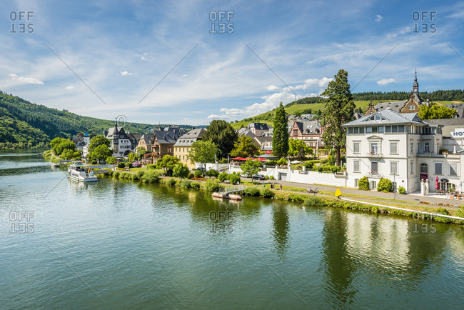June 14, 2015: Town along Moselle River in Europe